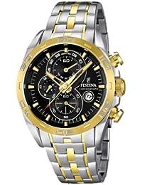 FESTINA F16655/5 - Reloj cronógrafo de cuarzo para hombre con correa de acero inoxidable, color plateado