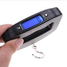 ZHANGYUGE Útil 1PC 50kg/10g LCD portátil Digital electrónica Pescado Báscula Electrónica de Peso de