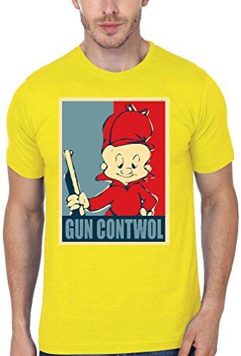 elmer-fudd-gun-contwol-poster-funny-mens-t-shirt-xx-large