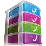 Bloc coffret tour boite de rangement 5 tiroirs plastique - Colonne rangement plastique ...