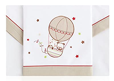 Sabanas 100% Algodón CUNA 60X120 - Friends Beige Petite Star (bajera+encimera+funda almohada)