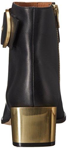 Calvin Klein Andrina Damen Eckig Leder Mode-Stiefeletten Black
