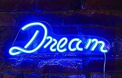 Isaak Jacobs LED Neon Wand Schild mit USB Draht Dream