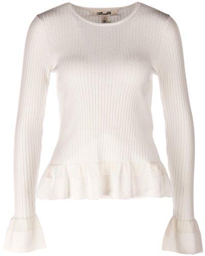 diane-von-furstenberg-jersei-para-mujer-blanco-blanco-roto