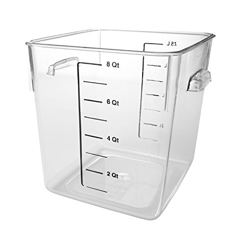 Rubbermaid Commercial Products FG630800CLR 7.5L Square Clear Storage Box (Polycarbonat Box Food Storage)