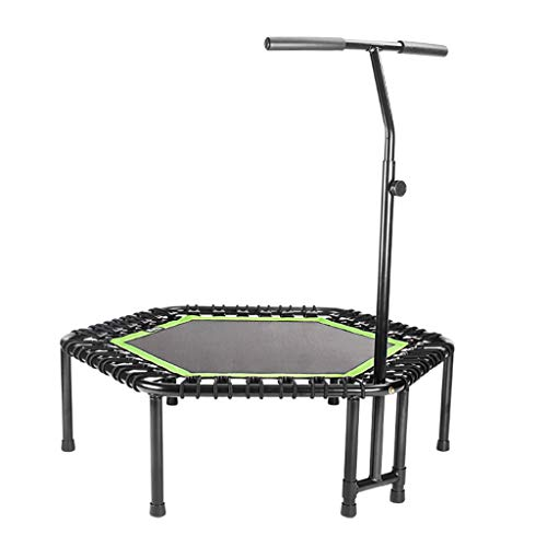Klappbares Silent Mini Fitness Trampolin mit verstellbarem Griff Erwachsene Bungee Rebounder Jumping Workout Cardio Trainer für Kinder | Aerobic Bouncer Indoor Outdoor