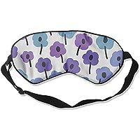 Comfortable Sleep Eyes Masks Purple And Blue Floral Pattern Sleeping Mask For Travelling, Night Noon Nap, Mediation... preisvergleich bei billige-tabletten.eu