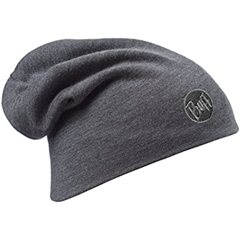 original buff merino lana thermal loose gorro buff® solid negro - merino lana gorro buff para unisex, color multicolor,  adulto