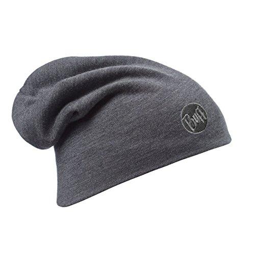 Buff Erwachsene Mütze Merino Thermal Hat, Solid Grey, One Size, 111170.937.10.00