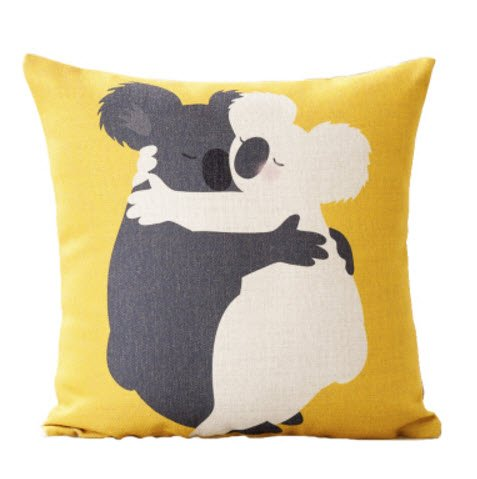 MAYUAN520 Zierkissen Bunny Bunny Fox Kissenbezüge Home Dekoration Geschenk Emoji Kid werfen Massagegerät dekorative Vintage Kissen Decken Dekor hell, Gelb (Vintage-massagegerät)