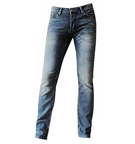 HO-2077 Zhrill Herren Vintage-Jeans schwarz slim fit Schwarz