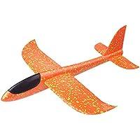 Ouinne Planos de Espuma los Planeadores Glider Juguete Lanzamiento de Mano Modelo de Avion (Naranja)