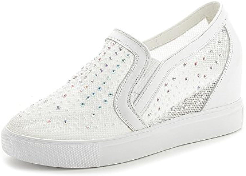 DANDANJIE Scarpe da Donna Mocassini Estate New Hidden Heel scarpe Strass Mesh Scarpe Casual da Studente   Consegna veloce    Sig/Sig Ra Scarpa