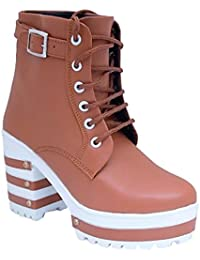 Tanishq Collection - High Fashionable Boot For Women And Girls - Brown