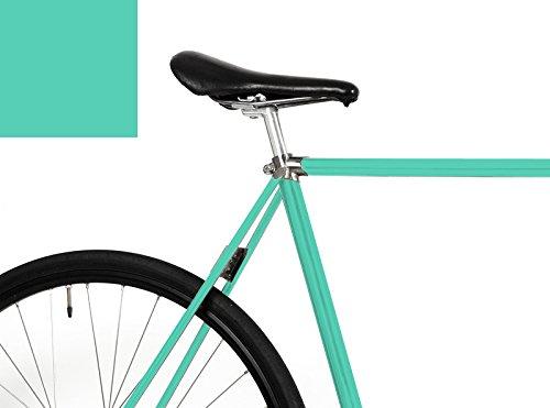 """MOOXI-BIKE Fahrrad-Folie """"Mint (matt)"""" für den Rahmen deines Fahrrads (ausreichend für ganzes Rad)"""