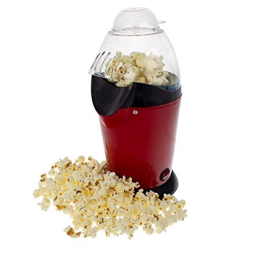 Smartfox Popcornmaschine Popcornmaker Verwendung ohne Fett und Öl inklusive Messlöffel in rot/schwarz