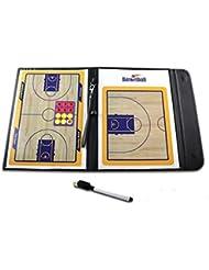 Pizarra magnética de baloncesto de entrenamiento plegable tácticas de entrenador de baloncesto libro