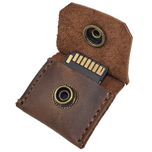 Hide & Drink Schlüsselanhänger/SD-Karte/Gitarrenplektrumhalter, rustikal, Leder, handgefertigt