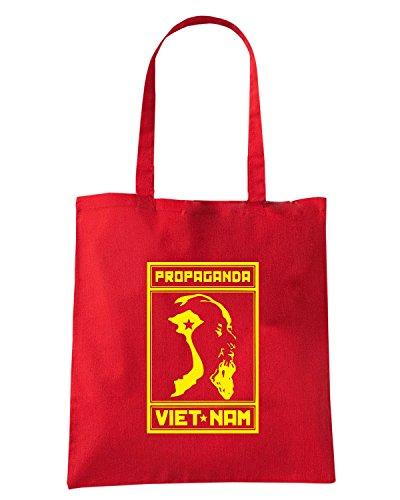 T-Shirtshock - Borsa Shopping TCO0067 vietnam vintage propaganda Rosso