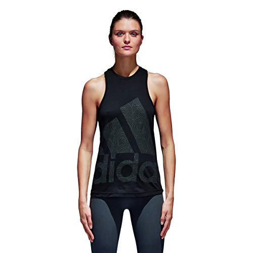 adidas Damen Climalite Logo Tanktop, schwarz (Black), M