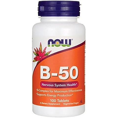 B-50, 100 Cápsulas - Now Foods