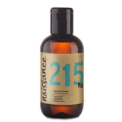 Naissance reines Mandelöl süß (Nr. 215) 100ml - Vegan, gentechnikfrei - Ideal zur Haar- und Körperpflege, für Aromatherapie und als Basisöl für Massageöle