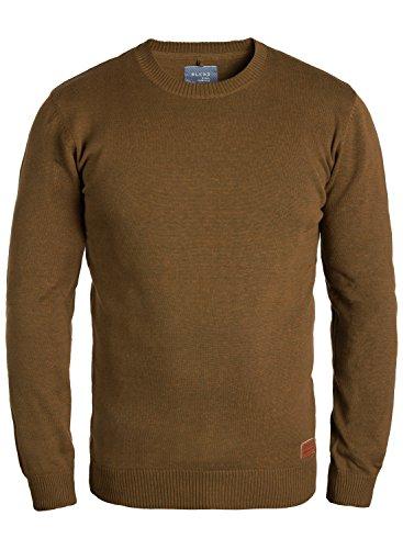 Blend Lars Herren Strickpullover Feinstrick Pullover Mit Rundhals Und Melierung, Größe:L, Farbe:Dark Mustard (75116)