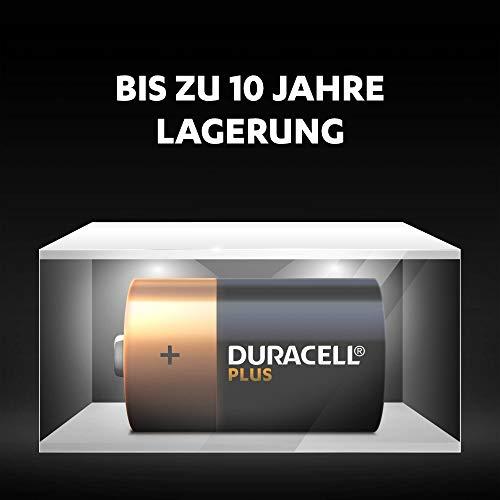 Duracell Plus Power Typ D Alkaline Batterien, 4er Pack - 4