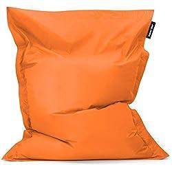 Bean Bag Bazaar®, Orange, Pouf Géant pour Usage Intérieur et Extérieur Bazaar Bag, 180cm x 140cm, Pouf Poire résistant à l'eau