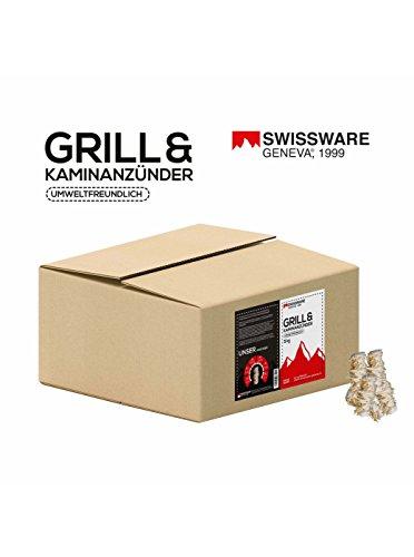 Swissware - 2,5kg Bio Anzünder aus Holzwolle und natürlichem Wachs - Kamin Ofen Grill Kohle Brennholz Anzündkamin Holz Anzünder 2500g (5kg)