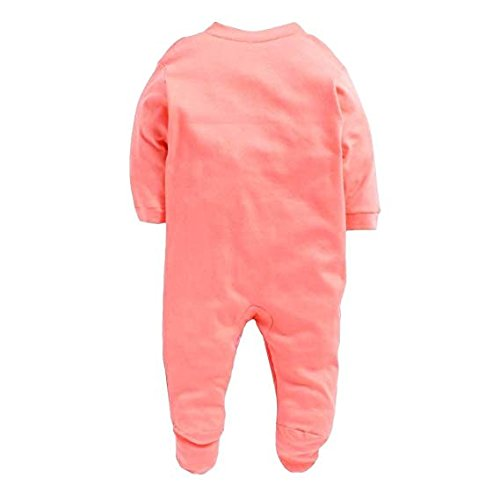 VADMANS Baby Castle Infants Cotton Rompers, Orange - (One Size, 9-12 Months) - Pack of 3