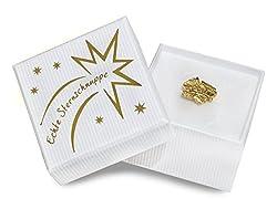 4you Design Sternschnuppe Gold-Edition mit Geschenkbox Inkl. Taufzertifikat Frau, Freundin, Freund, Bruder & Schwester - Geburtstagsgeschenk, Geschenk zum Muttertag, Taufgeschenk (weiße Geschenkbox)