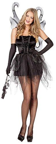 W4052-36 schwarz Damen Schmetterlings Kleid Elfenkostüm -