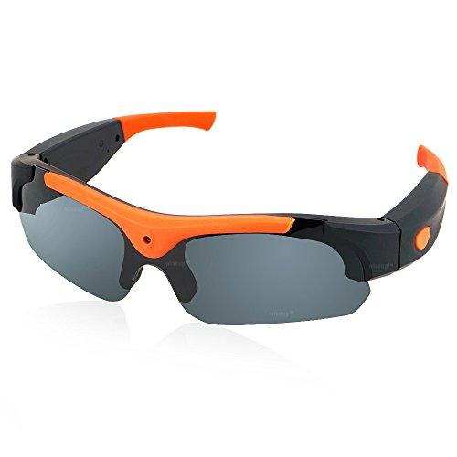WISEUP 16GB 1920x1080P HD Sport Sonnenbrille Versteckt Kamera Mini DV Camcorder Spion Brillen mit Aufzeichnung und Speicher
