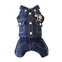 erthome 1PC Pet Dog Jacket Winter Waterproof General Army Thick Pet Dog Clothes