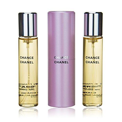 Chanel Chance Twist And Spray 60ml 3 x 20ml Eau De Toilette and Purse Spray