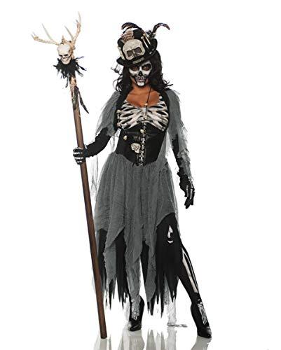 Kostüm Priesterin - Horror-Shop Böse Voodoo Priesterin Damenkostüm für Halloween M