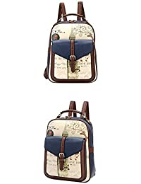 78db386b1561 Coromose Fashion Backpack Women Korean Graffiti PU Backpack Fashion  Shoulder Bags for Students