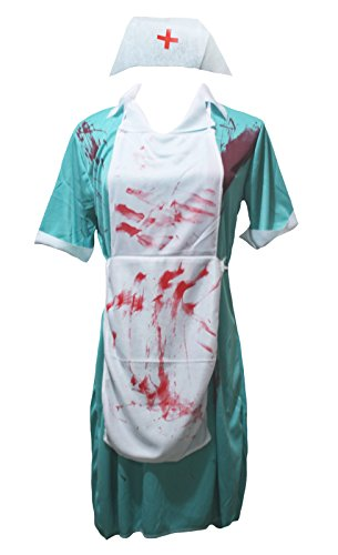 n-Kostüm Bloody Chirurg Krankenschwester Party Dress Up für Frauen Gr. One size, aqua blue (Krankenschwestern Dress Up Für Halloween)