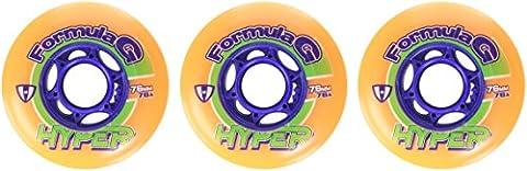 Hyper roues pour rollers pour homme formula g orange/era-bleu - 76, 72401