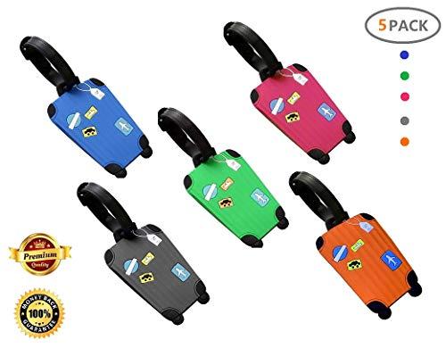 Equipaje Etiqueta, Fontee Baby 5pcs Silicona Etiquetas