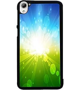 ColourCraft Beautiful Sun Rays Design Back Case Cover for HTC DESIRE 826