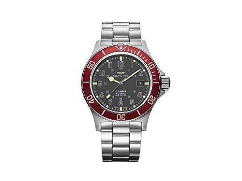 Glycine Combat sub Automatic Watch, GL 224, grigio, 42mm, GL0078