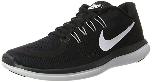 Nike Damen Flex 2017 RN Laufschuhe, Schwarz (Black/White-Anthracite-Wolf Grey), 42 EU