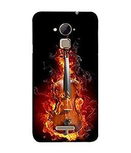 PrintVisa Designer Back Case Cover for Coolpad Note 3 Lite :: Coolpad Note 3 Lite Dual SIM (Burning Guitar Classy Design)