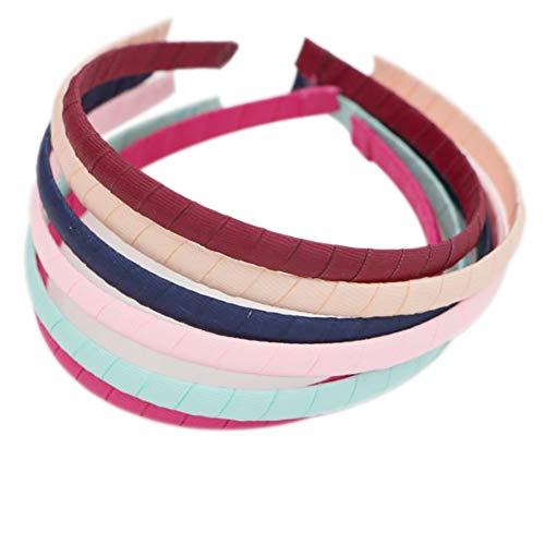 Qinlee Haarreifen Rib Kunststoff Haar Stirnband Klare Keine Zähne DIY Haarbänder Plain Stirnbänder Haarschmuck für Mädchen und Damen-bunt