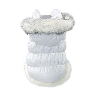 QZBAOSHU Navidad para Mascotas Ropa para Perros de Down Chaquetas de Invierno Ropa de Algodón Caliente para Gatos del Perro