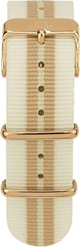 Sailor Damen Nylon Armband Beach weiß-Gold BSL101-2001-20, Breite Armband:20mm (normal), Farbe Edels