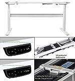 Exeta Elektrisch höhenverstellbarer Schreibtisch (Version 2018) mit 2 Motoren, 3-fach-Teleskop, Memory-Funktion und Softstart/-stopp, elektrisch höhenverstellbares Tischgestell – passend für alle gängigen Tischplatten - 4