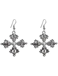 [Sponsored Products]Sansar India Oxidized Queen Earrings Jewelry For Girls And Women